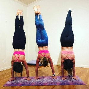Coordinating this handstand picture took every last bit of strength I had! Bras: Handful; Pants: prAna